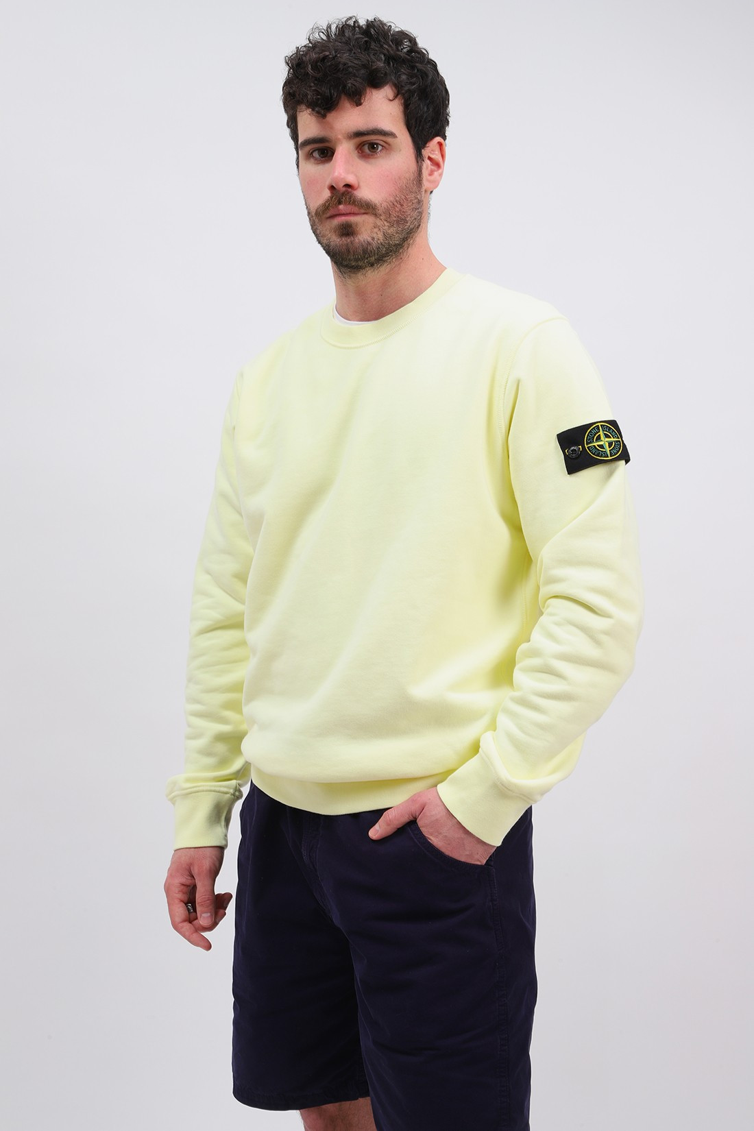 STONE ISLAND / 63051 crewneck sweater v0031 Limone