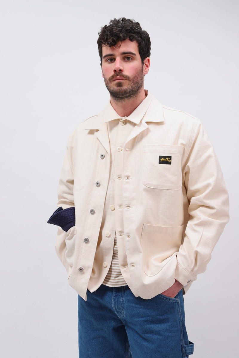 Painters jacket Natural sateen