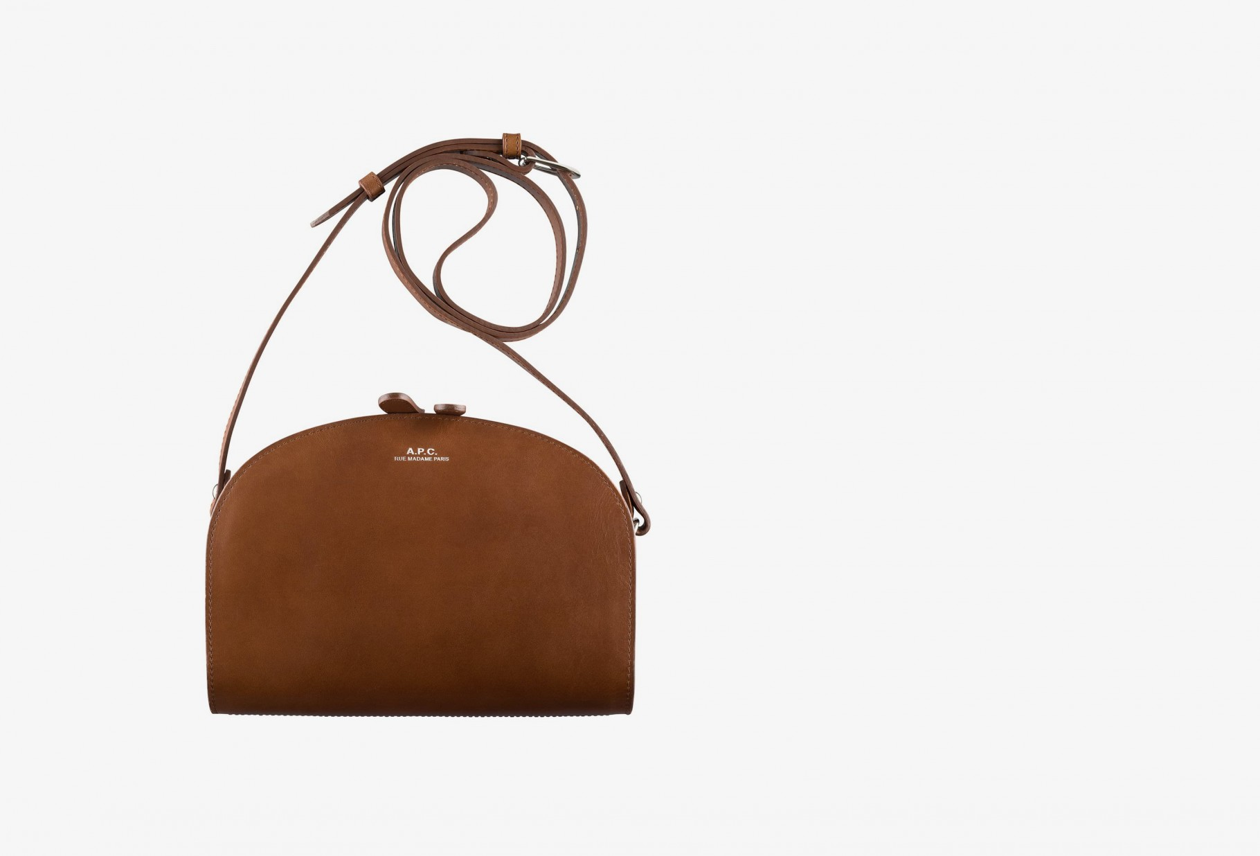 A.P.C. FOR WOMAN / Sac demi-lune Noisette