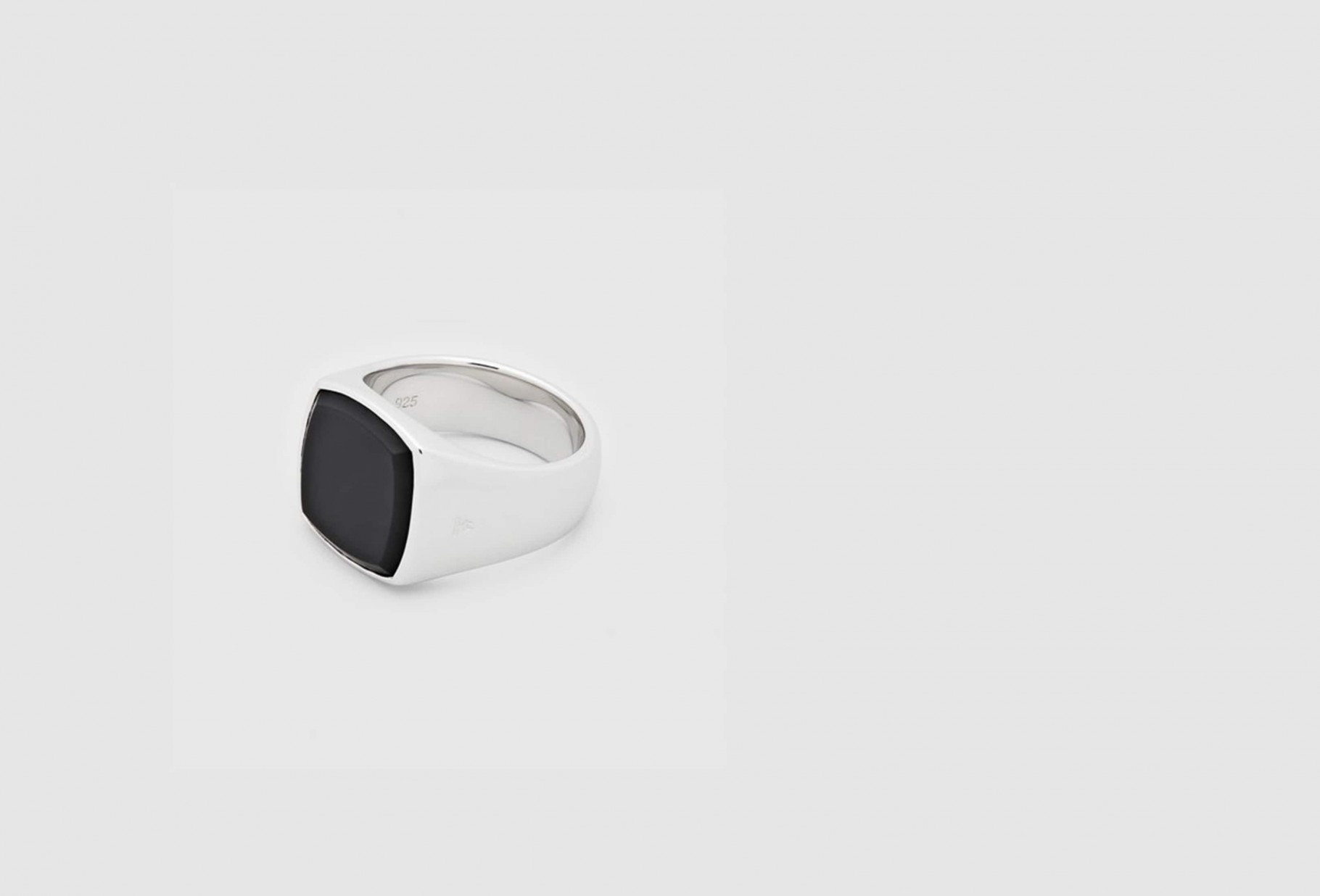 TOM WOOD / Cushion black onyx Silver