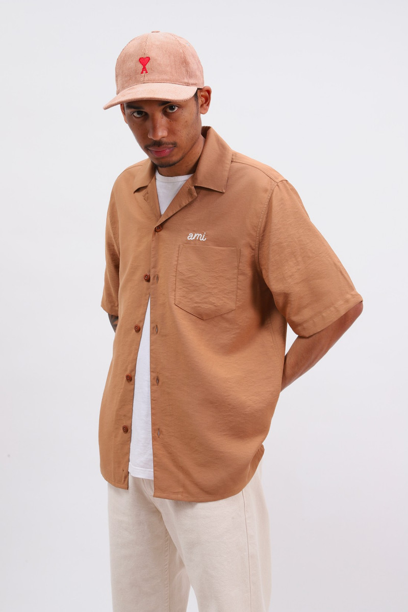 Chemise broderie ami Beige
