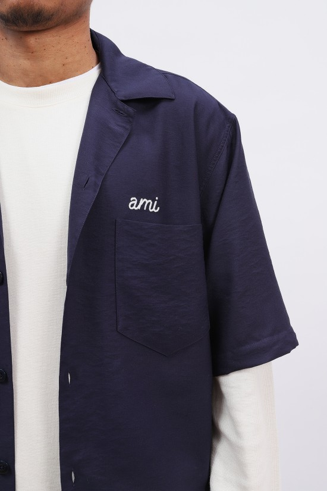 AMI / Chemise broderie ami Marine