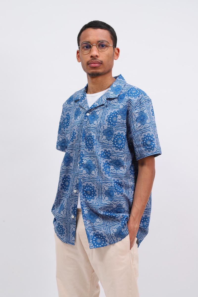 Malick bandana print shirt Blue