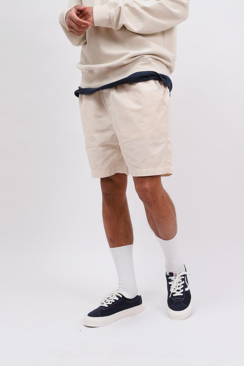 Organic twill shorts ivory White
