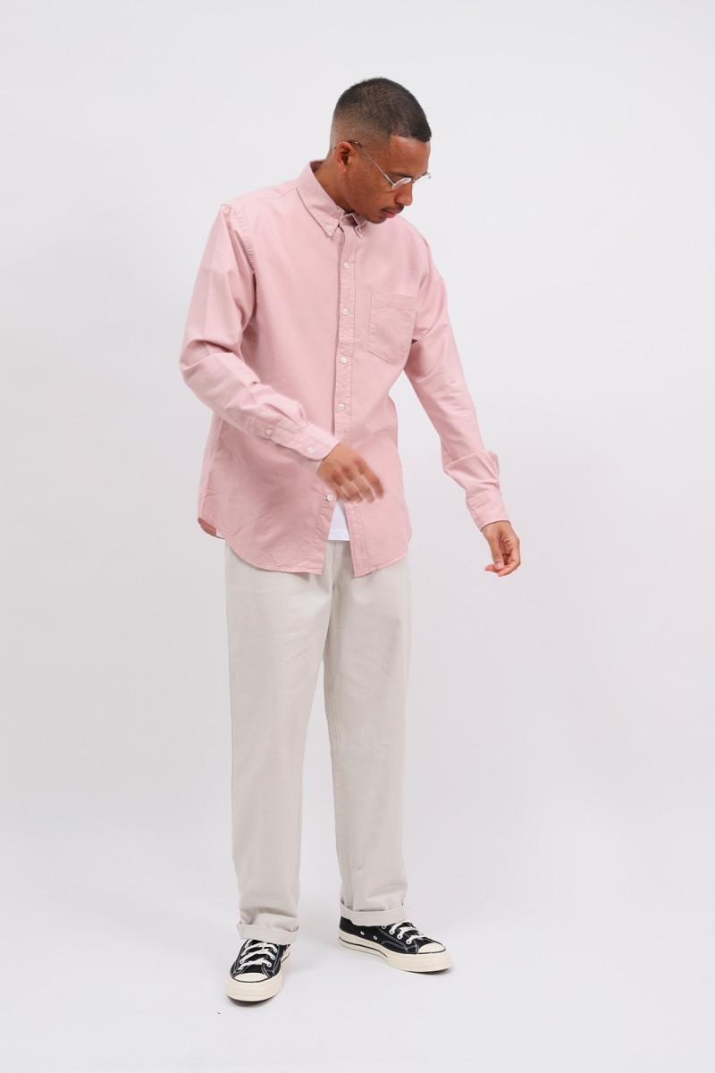 Organic button down shirt Faded pink