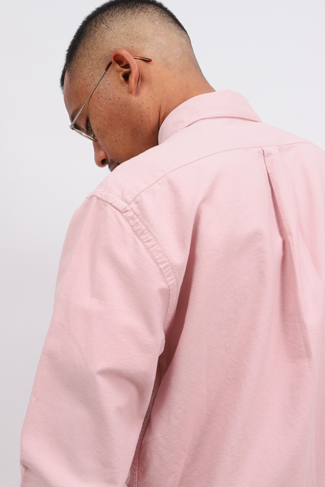 COLORFUL STANDARD / Organic button down shirt Faded pink