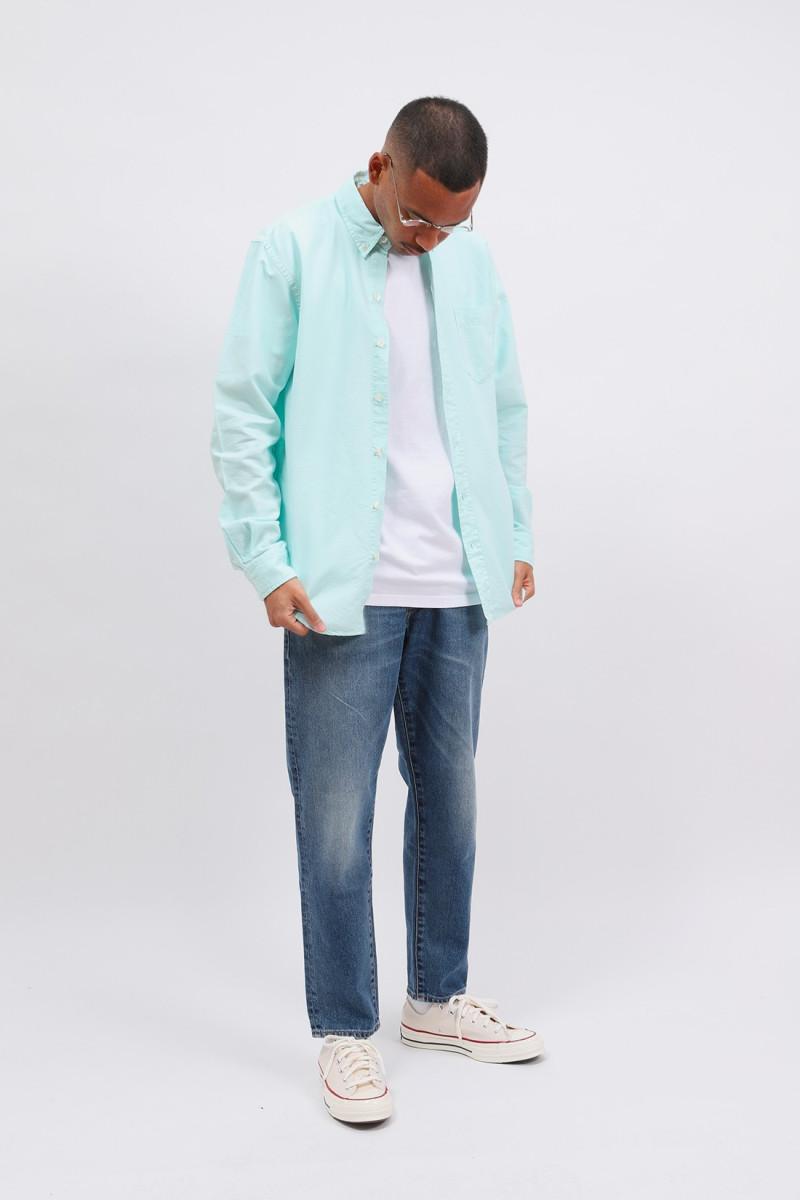 Organic button down shirt Light aqua