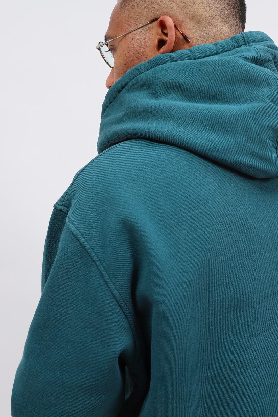 COLORFUL STANDARD / Classic organic hood ocean Green