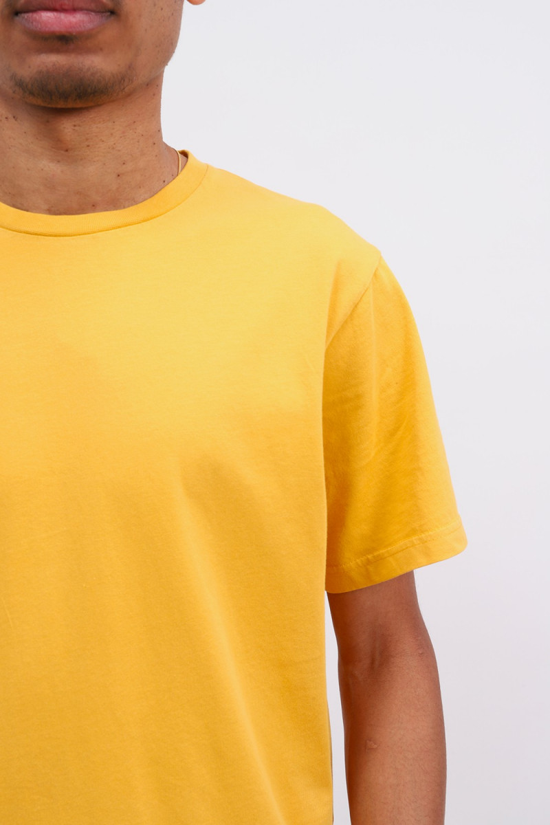 Classic organic tee burned Yellow