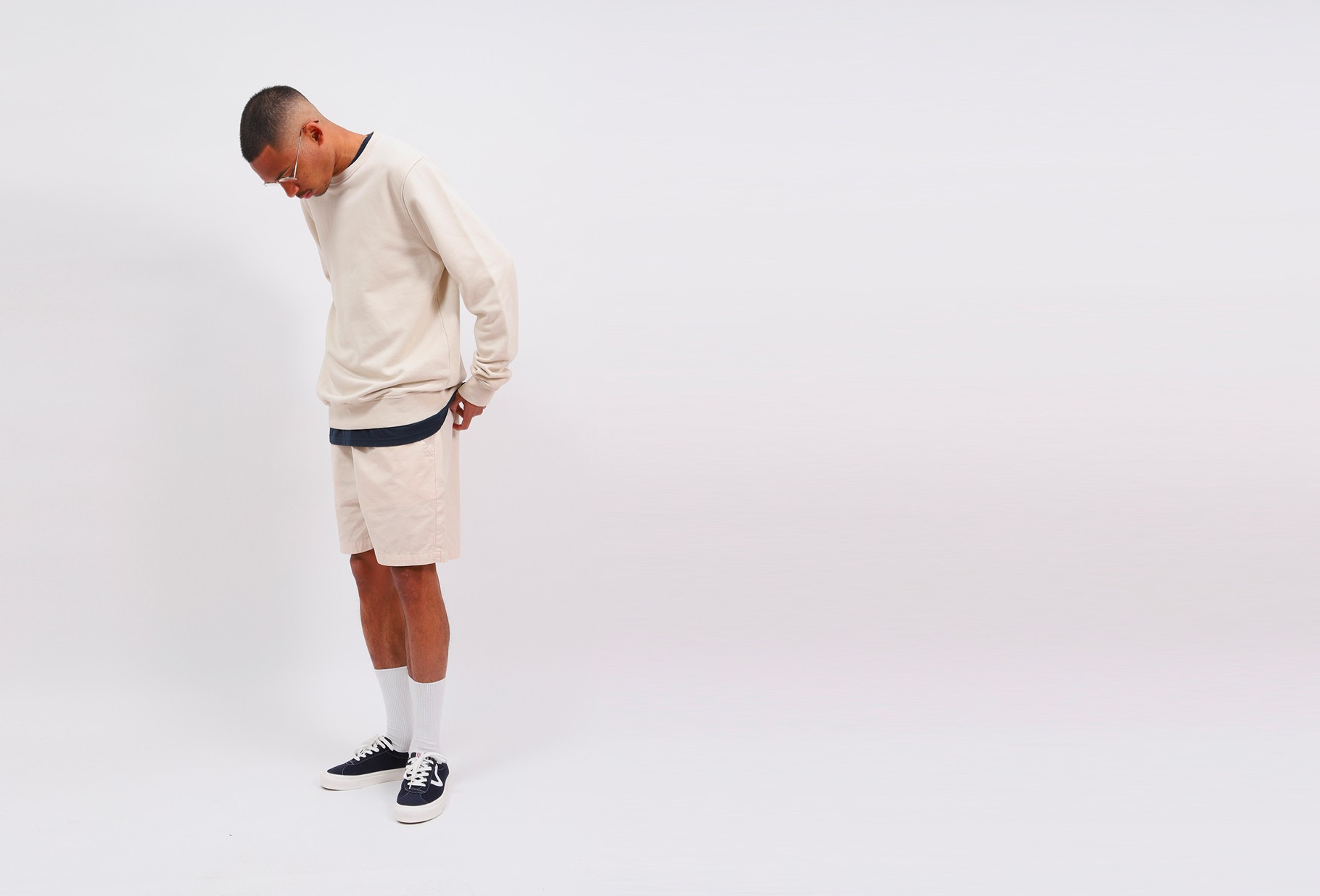 COLORFUL STANDARD / Classic organic crew ivory White