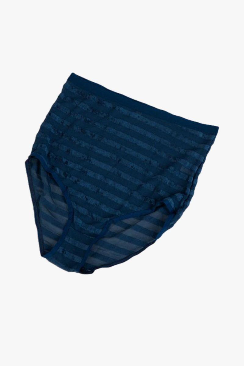 Highwaist bell pants Darya blue stripe