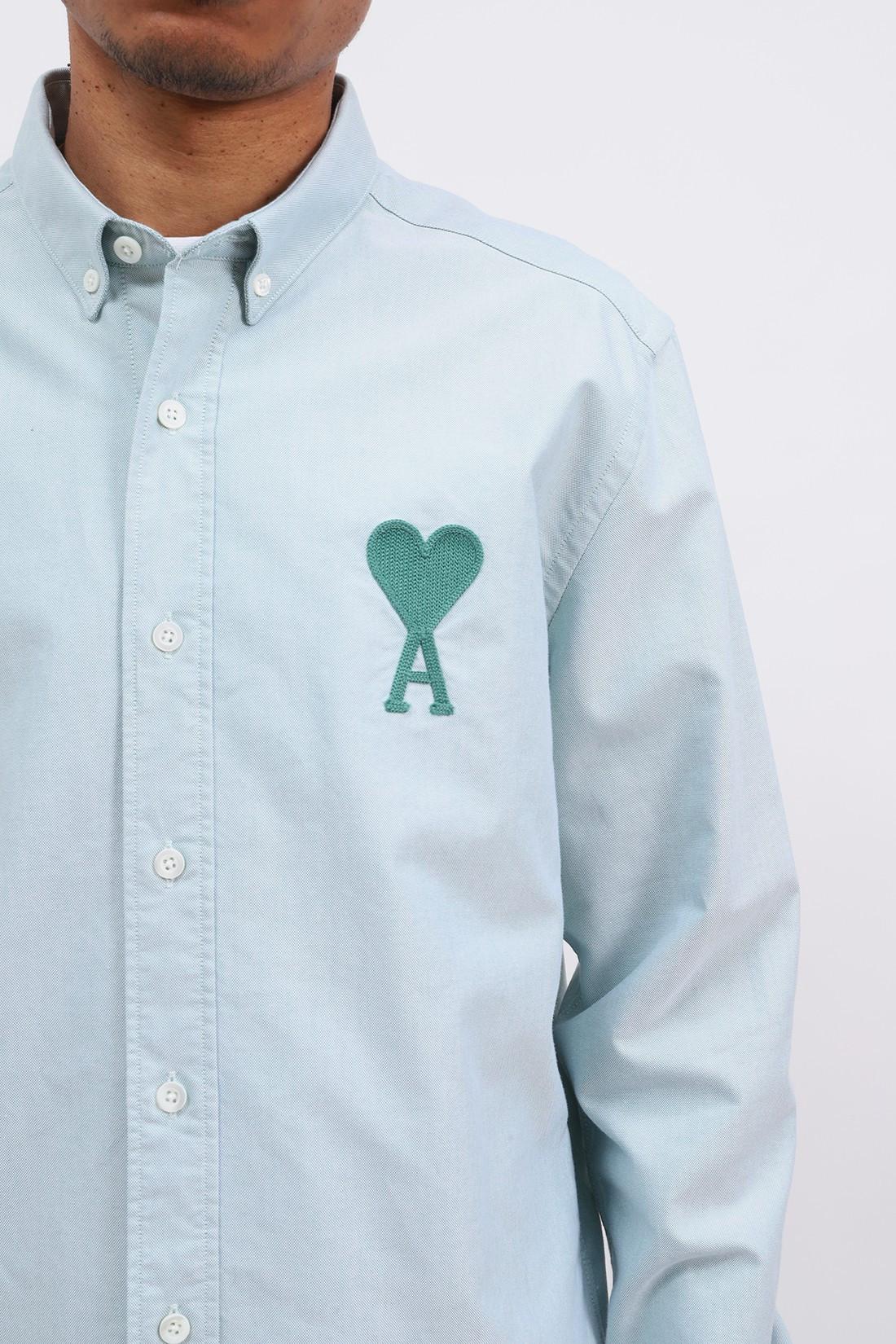 AMI / Chemise ami de coeur Aqua green