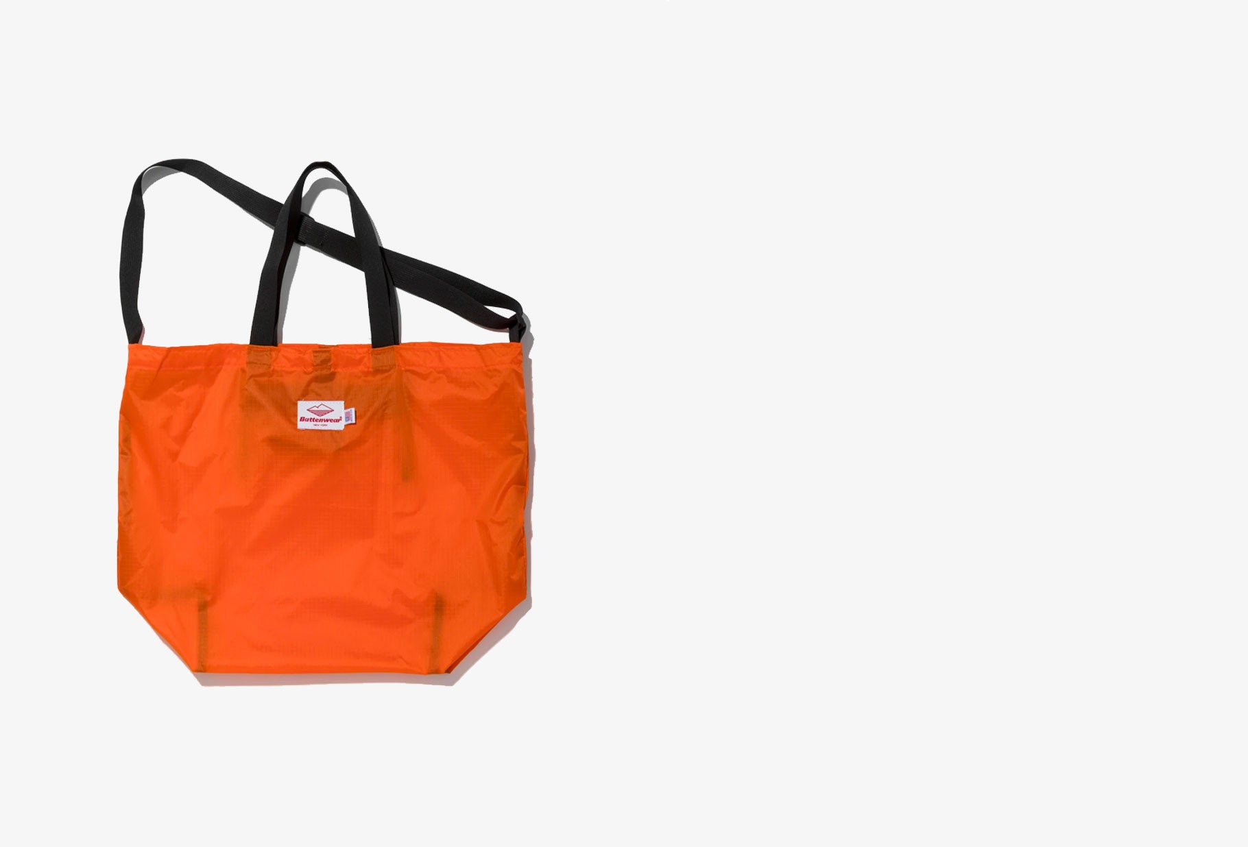 BATTENWEAR / Packable tote nylon Orange