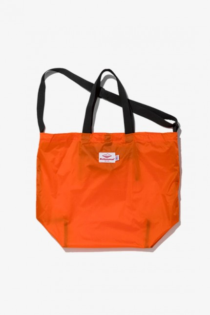 Packable tote nylon Orange / black