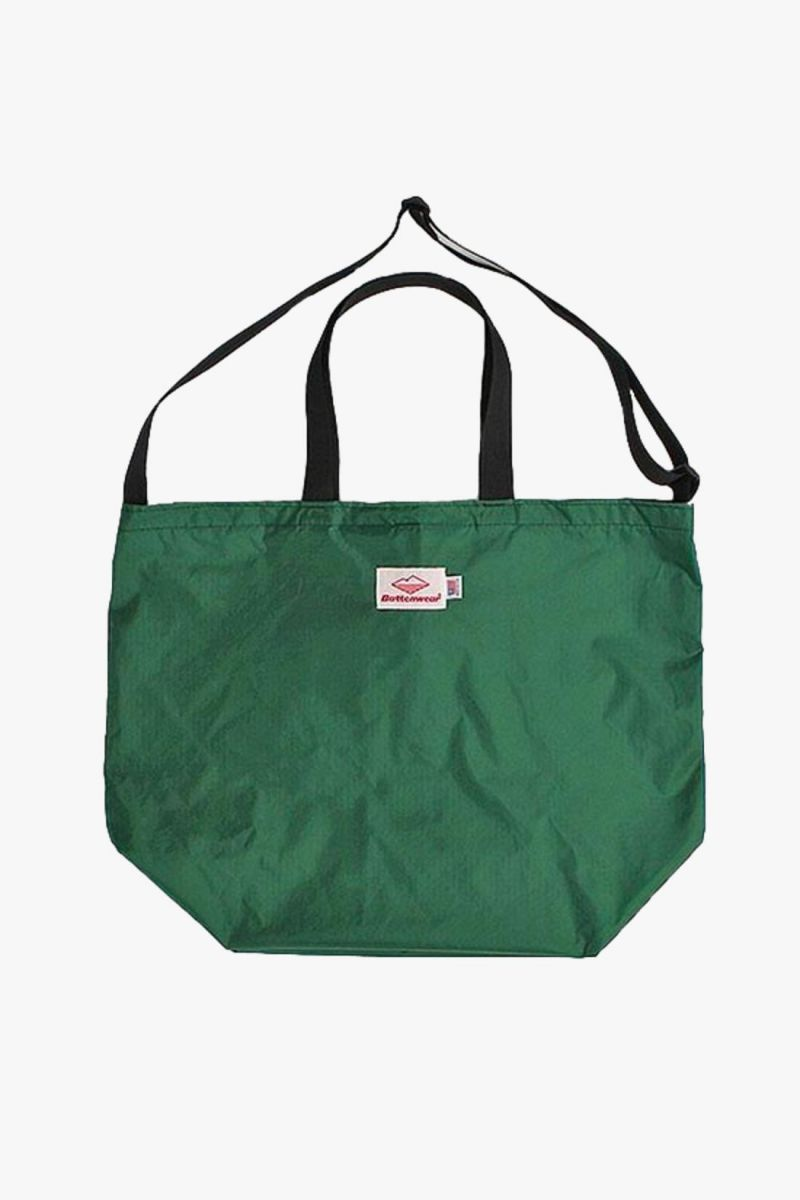 Packable tote nylon Forest green