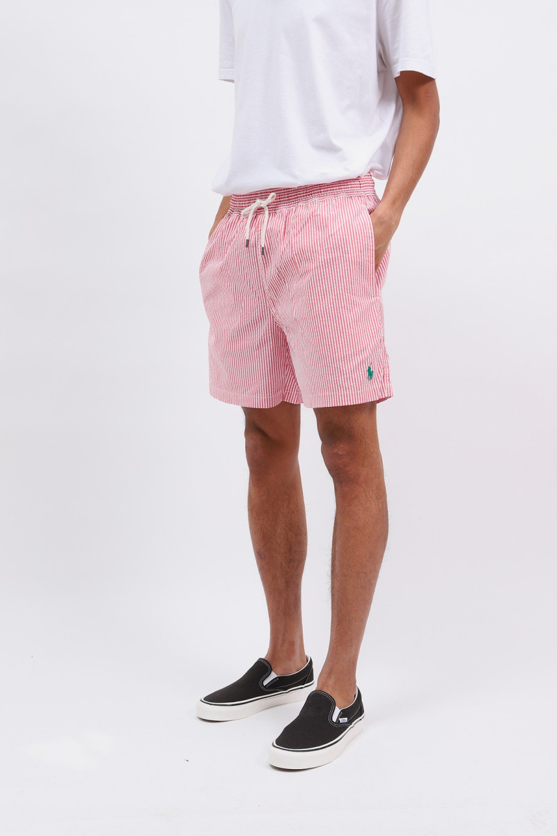 Traveler swim short seersucker Red