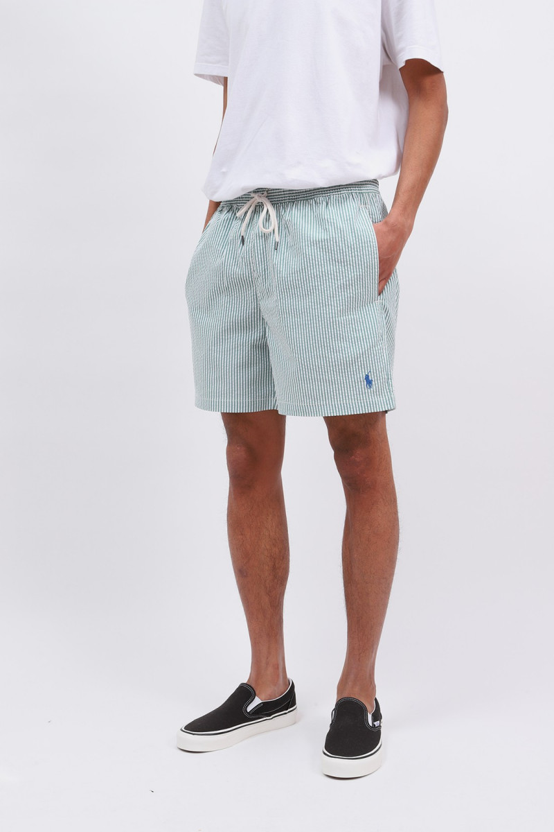 Traveler swim short seersucker Green