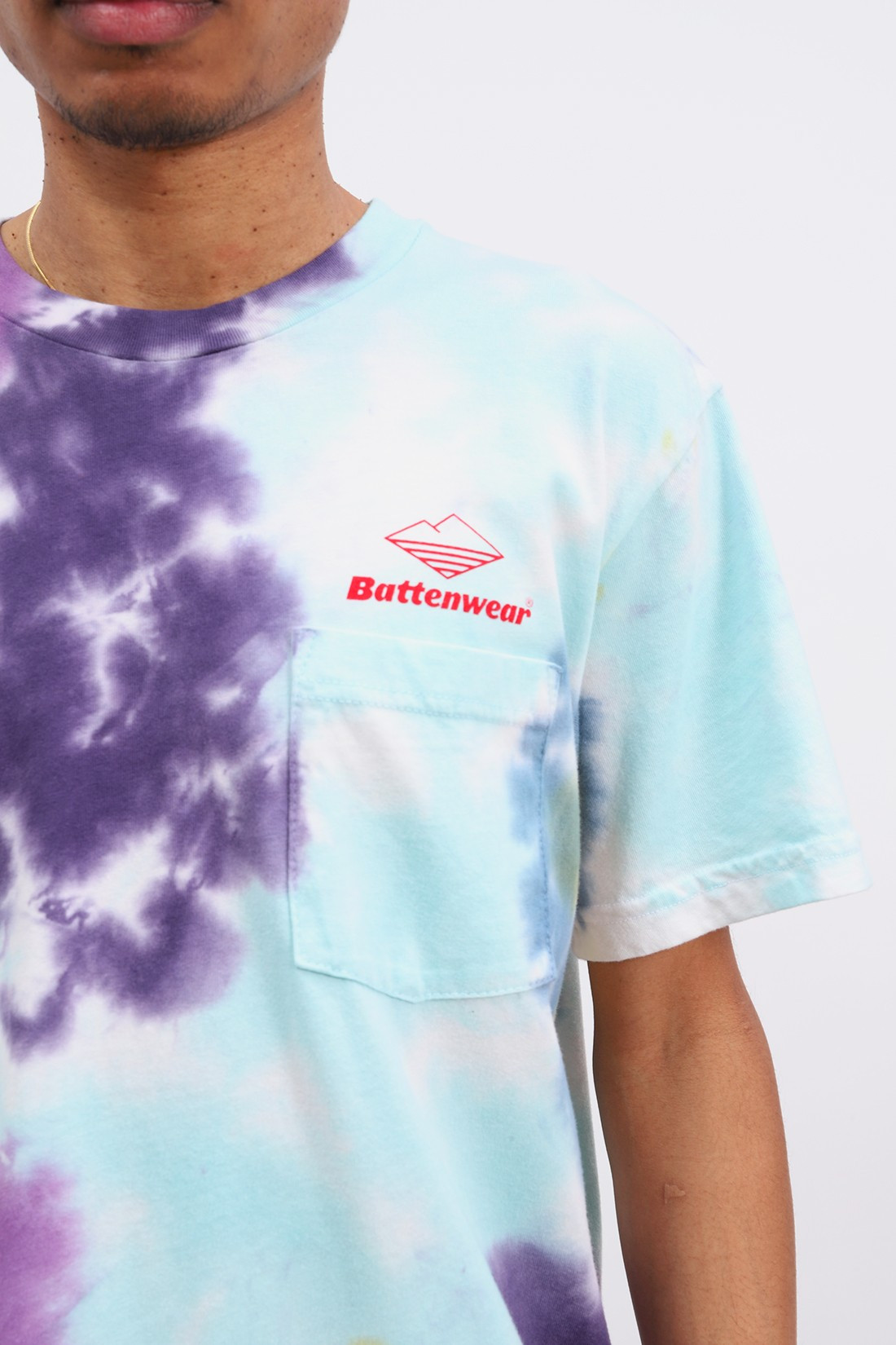 BATTENWEAR / Team s/s pocket tee Tie dye