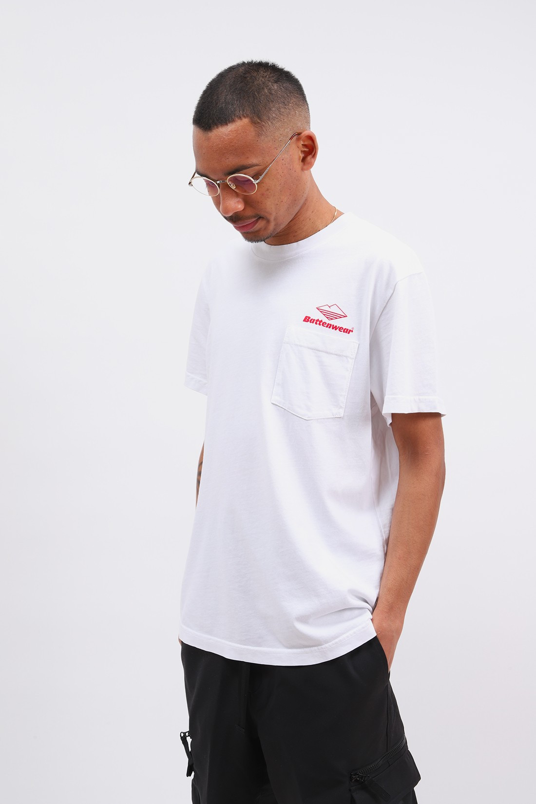 BATTENWEAR / Team s/s pocket tee White