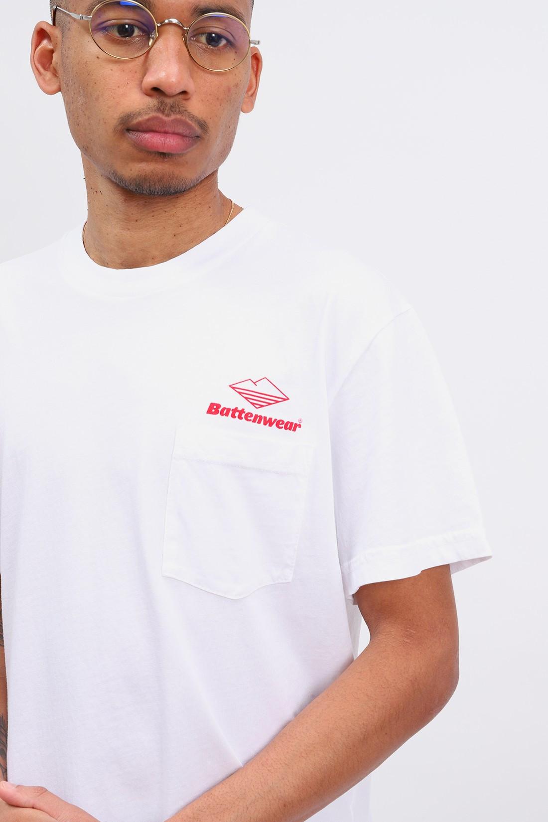 BATTENWEAR / Team s/s pocket tee White