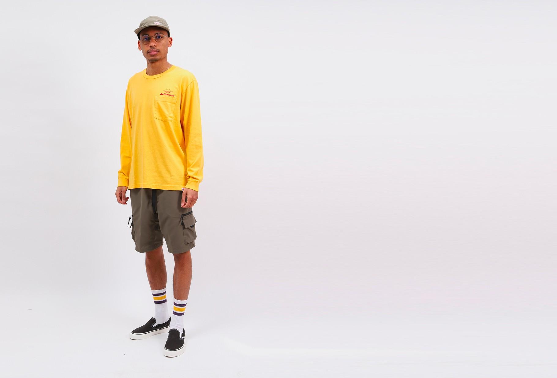 BATTENWEAR / Team l/s pocket tee Mustard