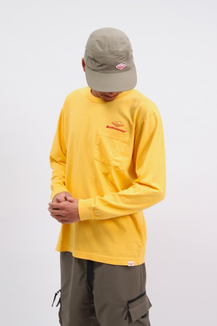 Team l/s basic pocket tee Mustard