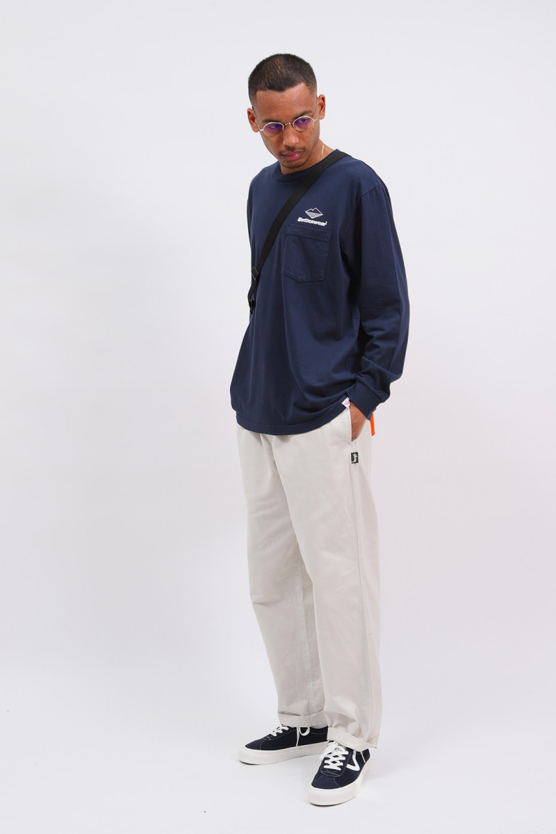 Team l/s basic pocket tee Navy