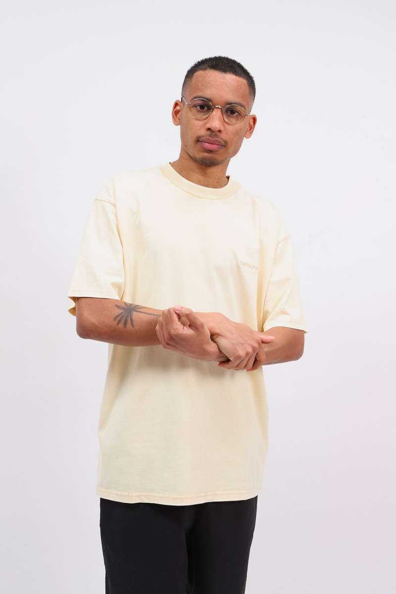 S/s mosby script t-shirt Dusty h brown wash
