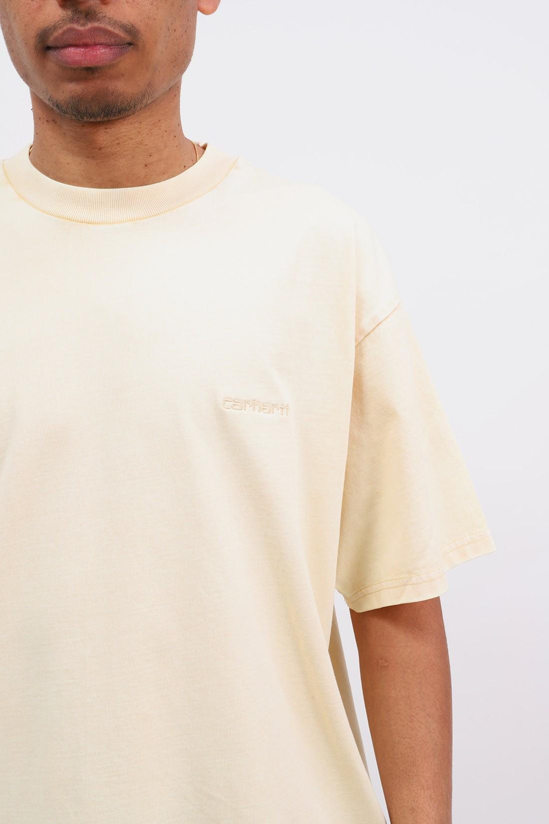 CARHARTT WIP / S/s mosby script t-shirt Dusty h brown wash