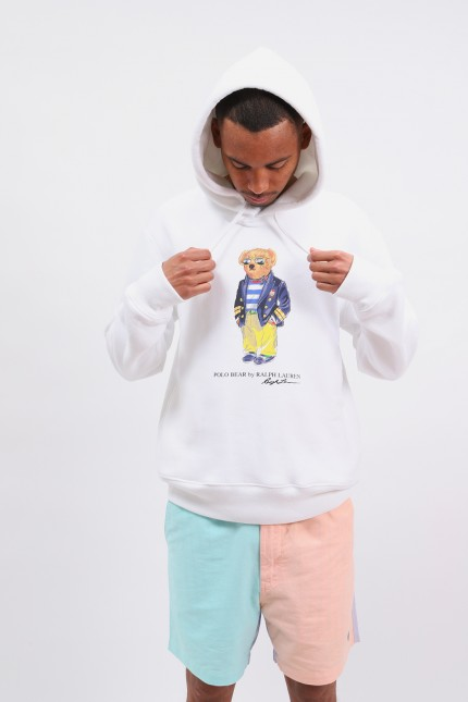 Polo bear hooded sweater White