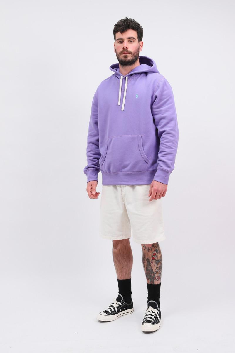 Polo hooded sweat Purple