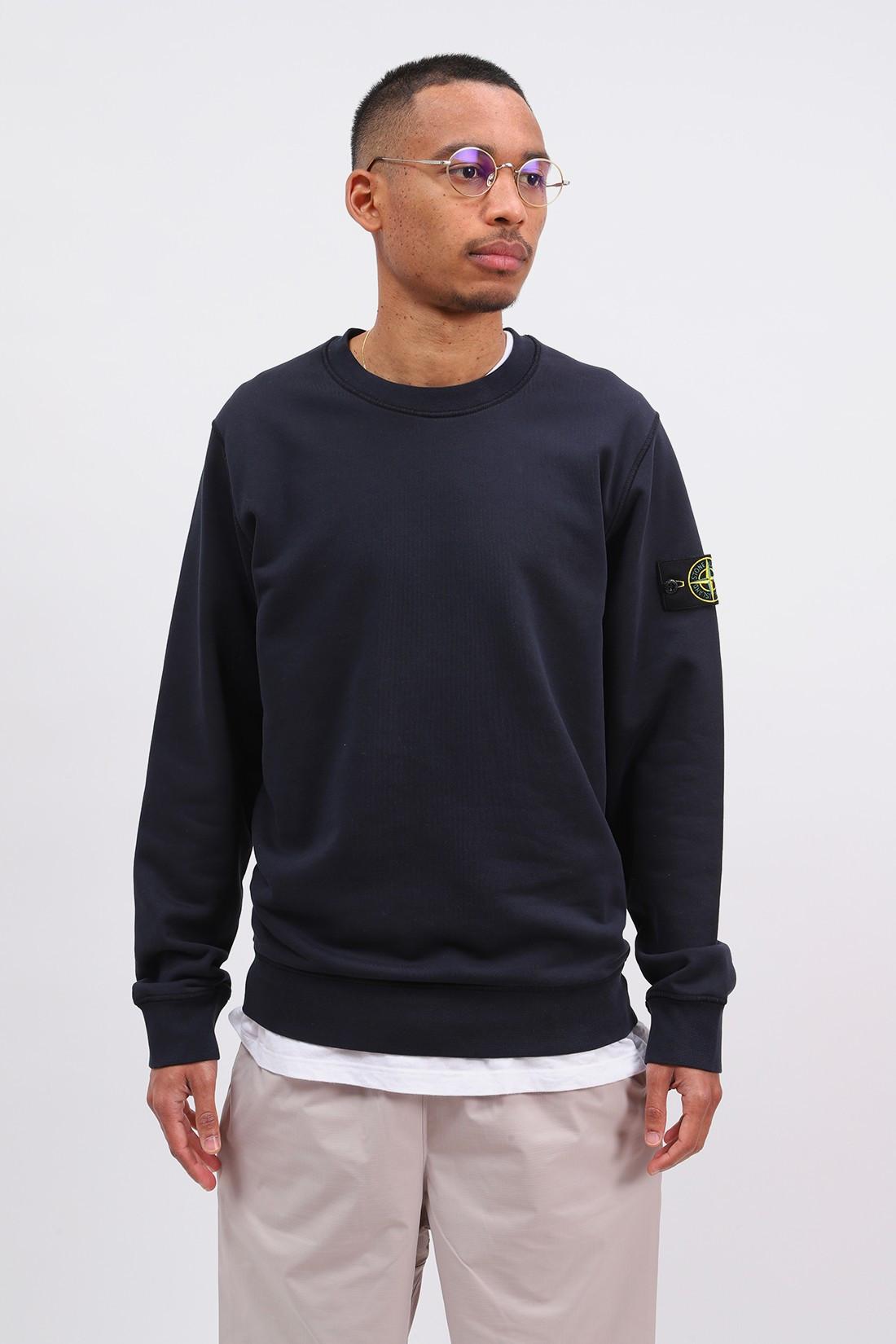STONE ISLAND / 63051 crewneck sweater v0020 Blu