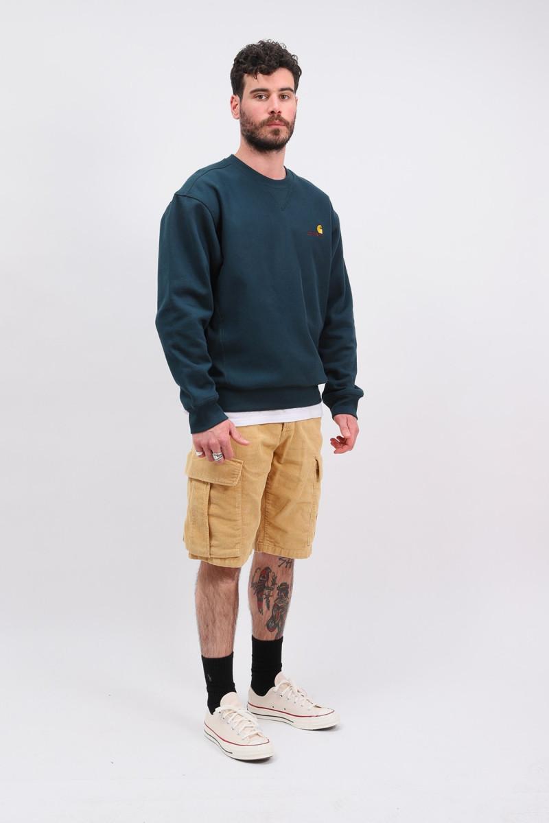 American script sweater Deep lagoon