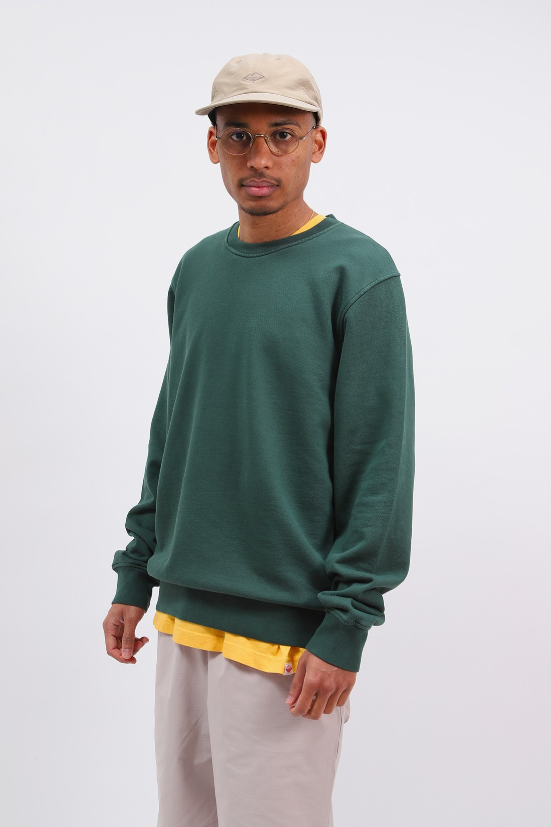 COLORFUL STANDARD / Classic organic crew emerald Green