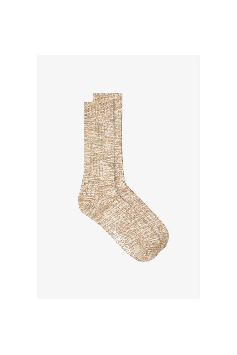 Slub sock Sand