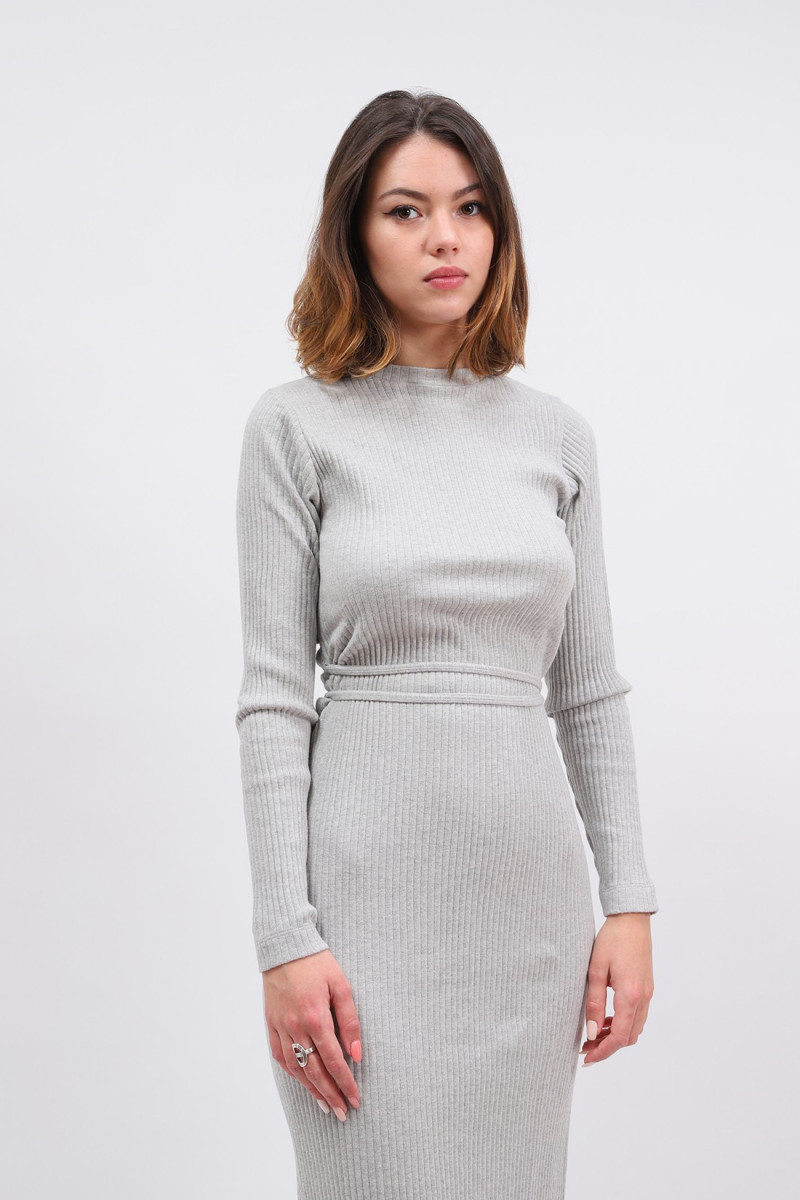 Brig dress Grey melange