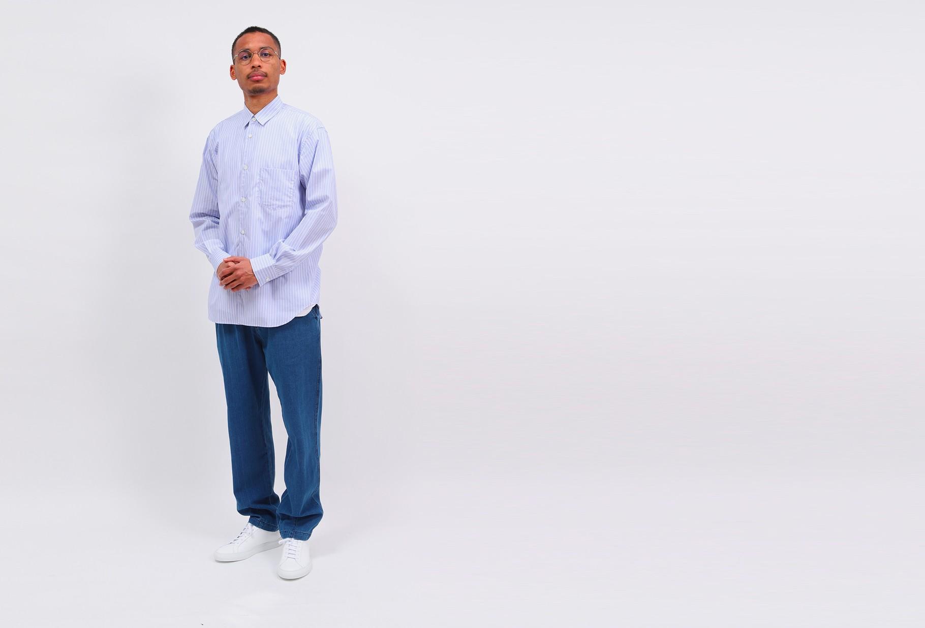 COMME DES GARÇONS SHIRT / Forever stripe shirt Blue