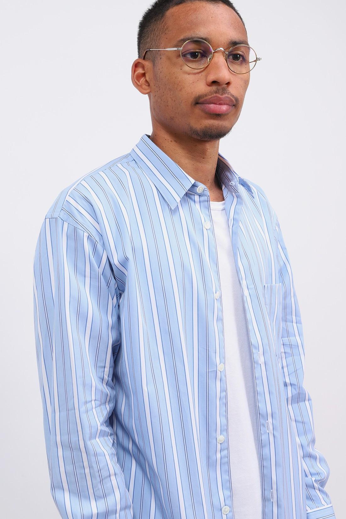 COMME DES GARÇONS SHIRT / Forever multi stripe shirt Blue
