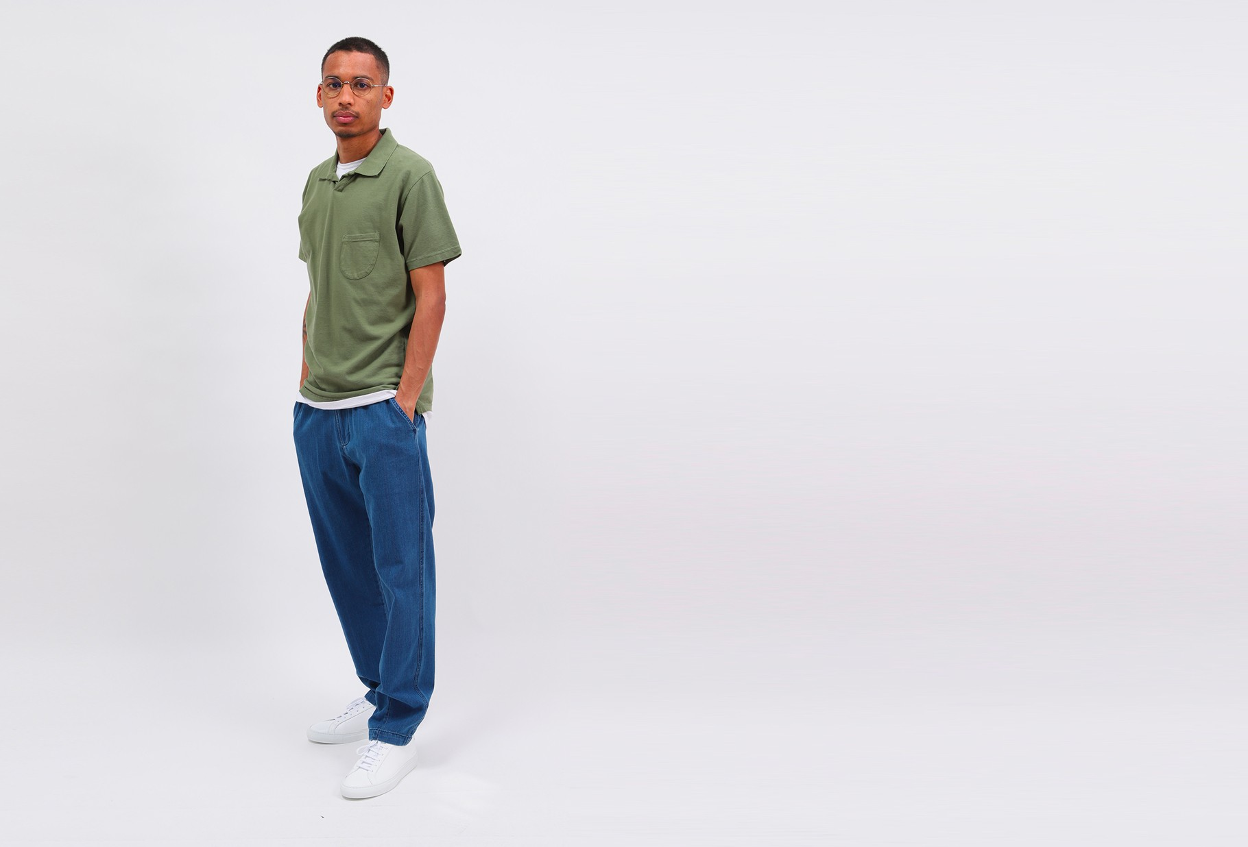UNIVERSAL WORKS / Vacation polo piquet Olive