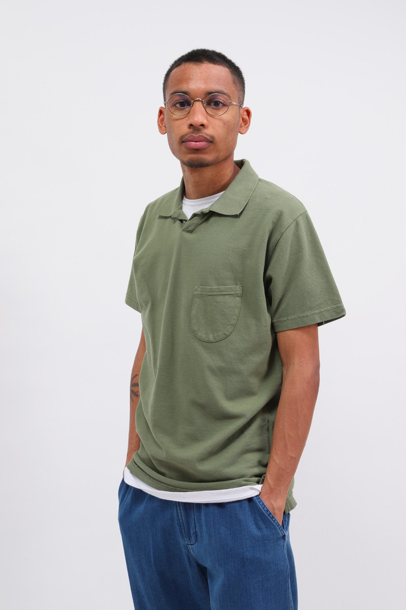 Vacation polo piquet Olive