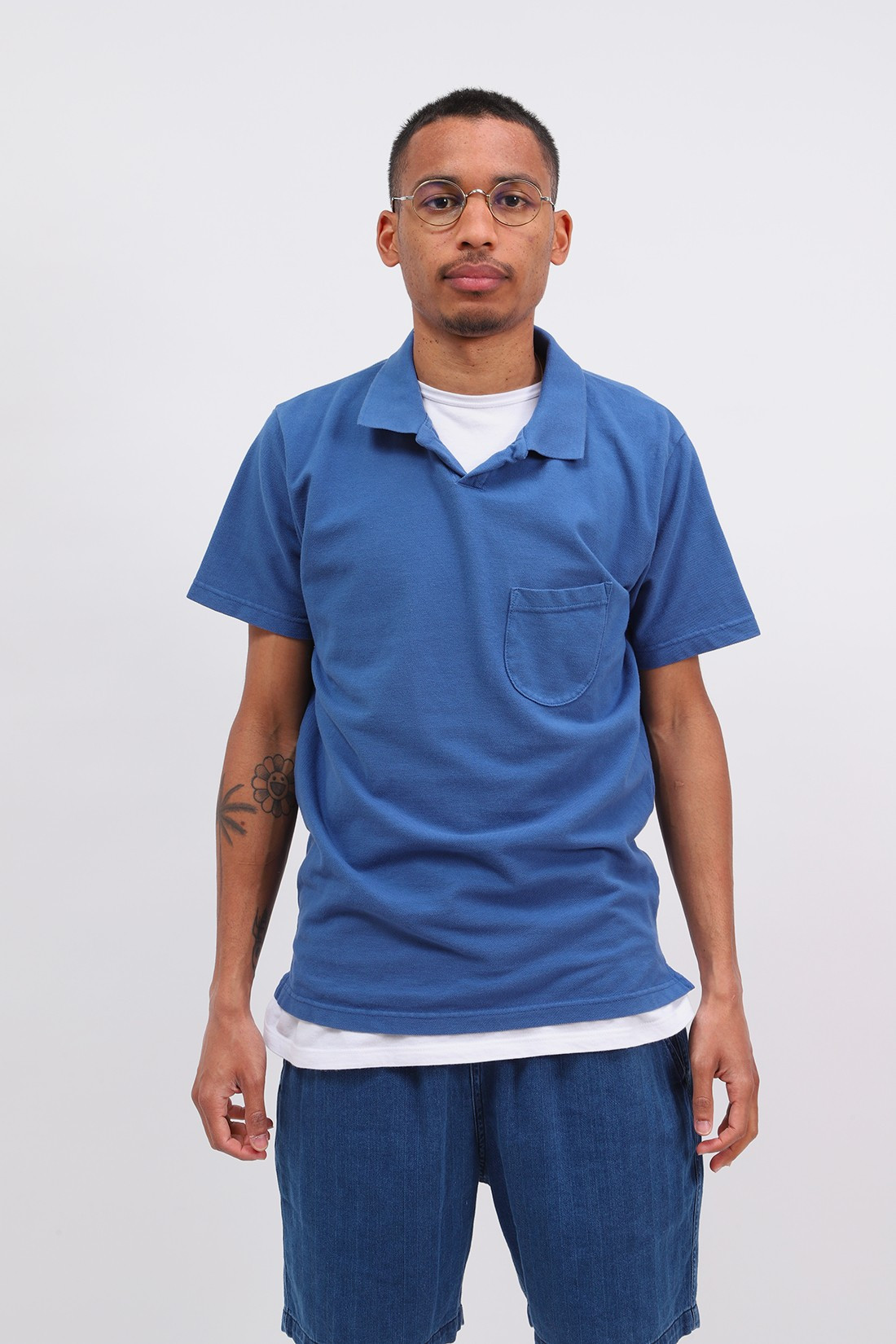 UNIVERSAL WORKS / Vacation polo piquet Blue