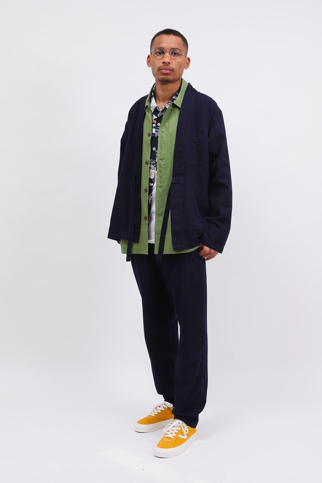 UNIVERSAL WORKS / Kyoto work jacket herringbone Indigo