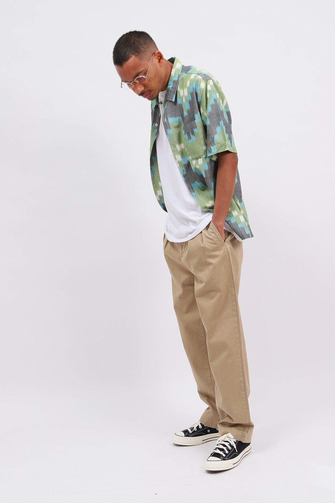 POLO RALPH LAUREN / Relaxed fit pleated pant Khaki