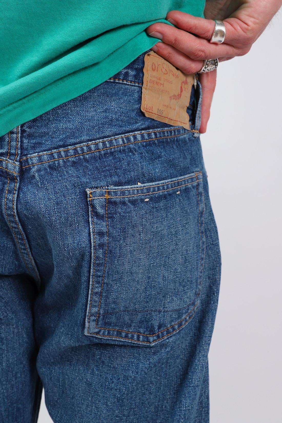 ORSLOW / 105 standard jean denim 2 year wash