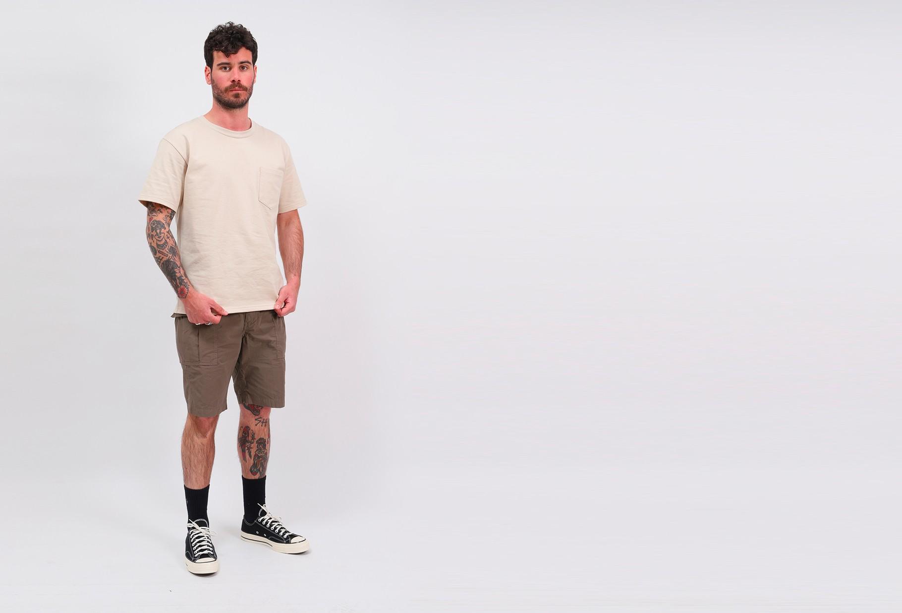 ORSLOW / Pocket t-shirt Ecru