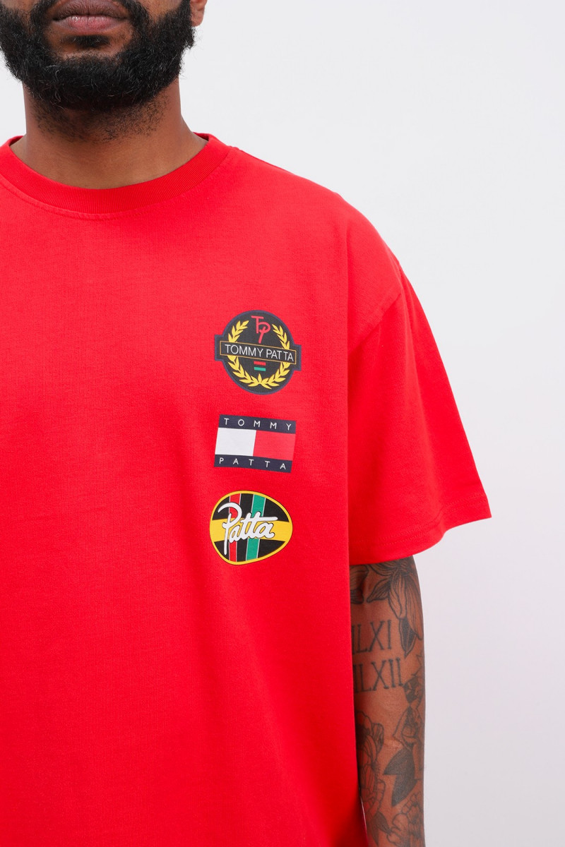 Abo tjm x patta flag tee Red