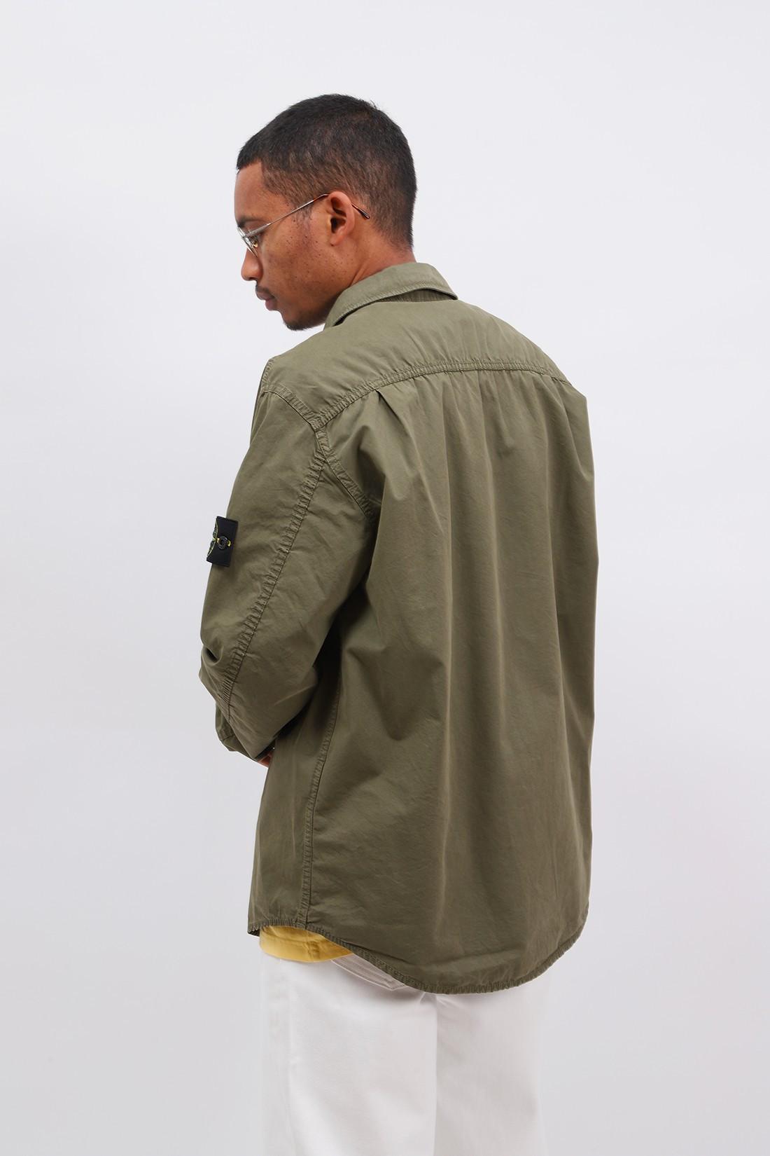 STONE ISLAND / 110wn overshirt v0158 Verde oliva