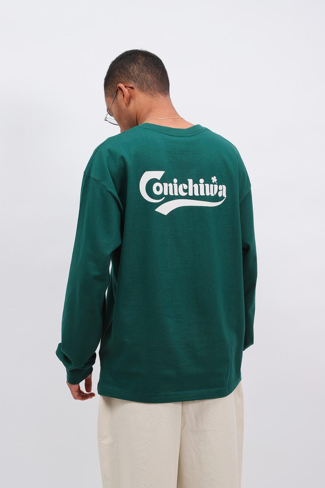 CONICHIWA BONJOUR / Liquor long sleeve tee Green