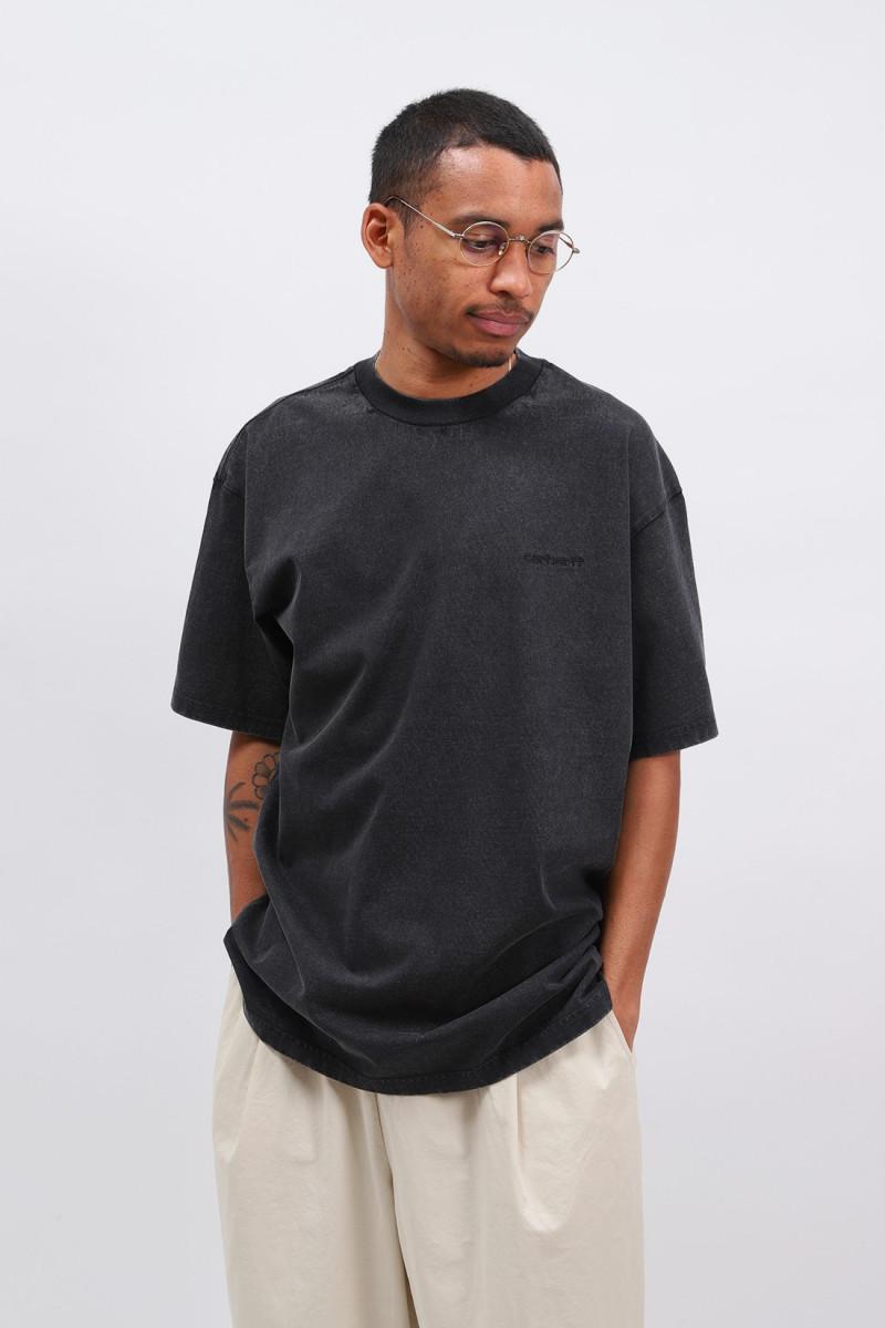 S/s mosby script t-shirt Black wash