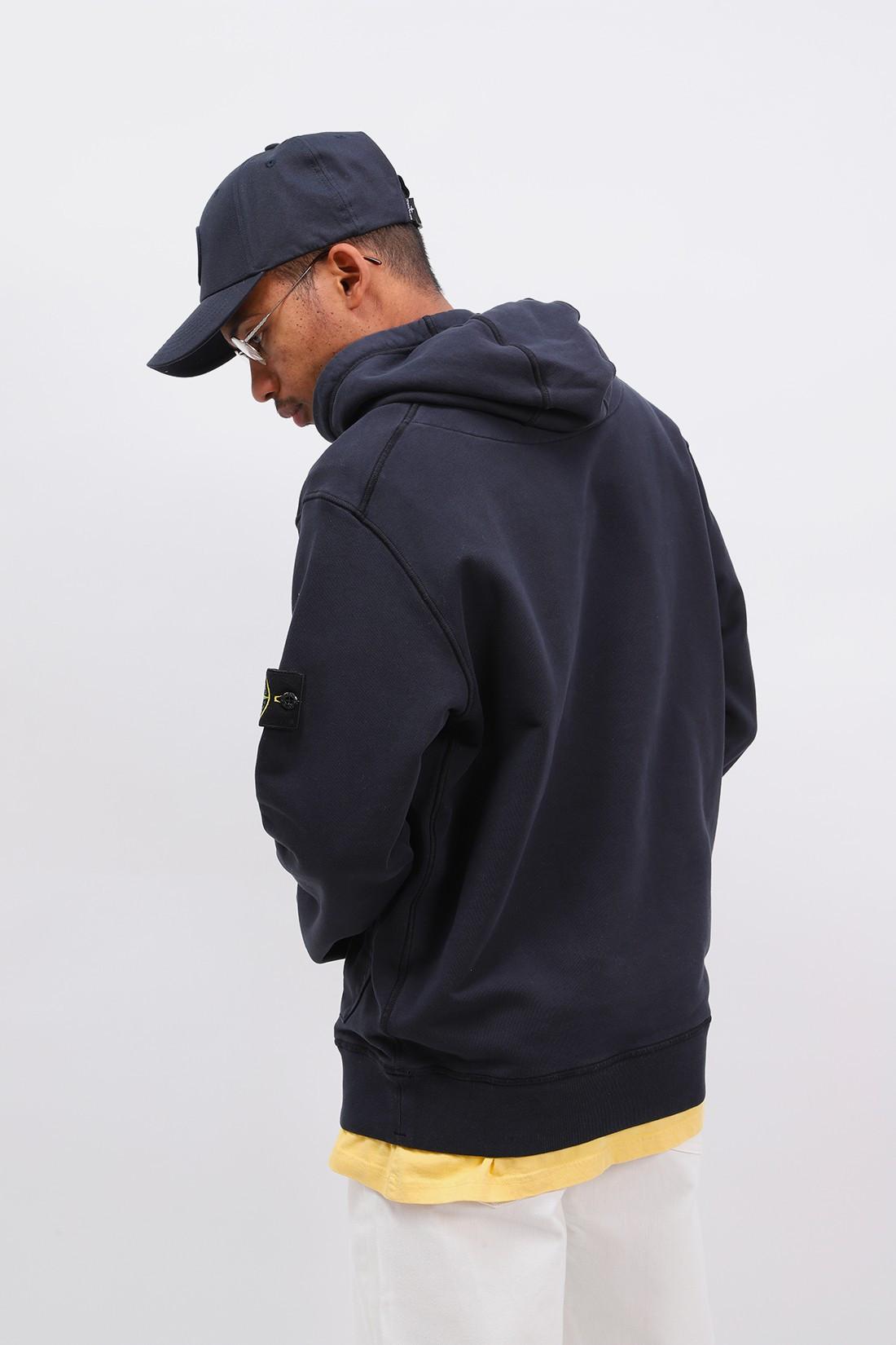 STONE ISLAND / 64151 hooded sweater v0020 Blu